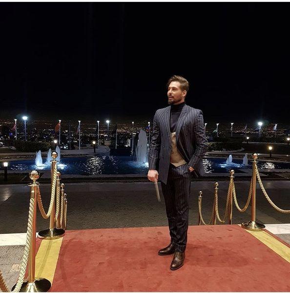 بازیگر مشهور ایرانی روی فرش قرمز + عکس