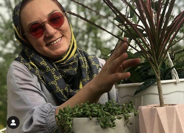 عشق و علاقه سحر ولد بیگی به گل و گیاه + عکس