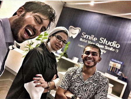 نیما شاهرخ شاهی و دکتر دندانپزشکش + عکس
