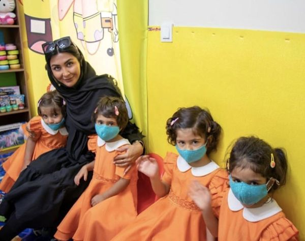 مریم معصومی در جمع کودکان بی سرپرست + عکس