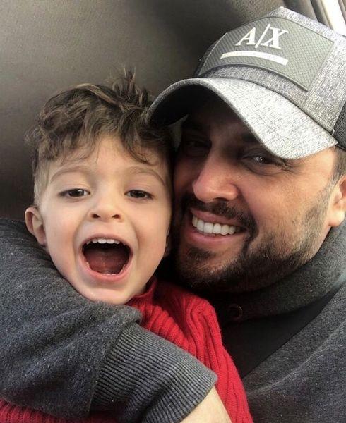 حال خوش پدرام کریمی با پسرش + عکس