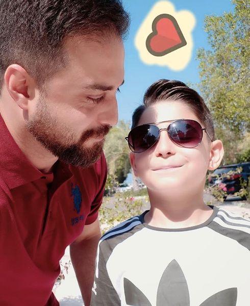 بابک جهانبخش با پسرش + عکس
