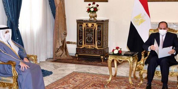 دیدار فرستاده امیر کویت با رئیس جمهور مصر