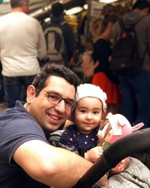 محمدرضا احمدی در کنار دخترش + عکس