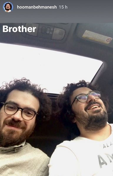 هومن بهمنش و دوقلوش+عکس
