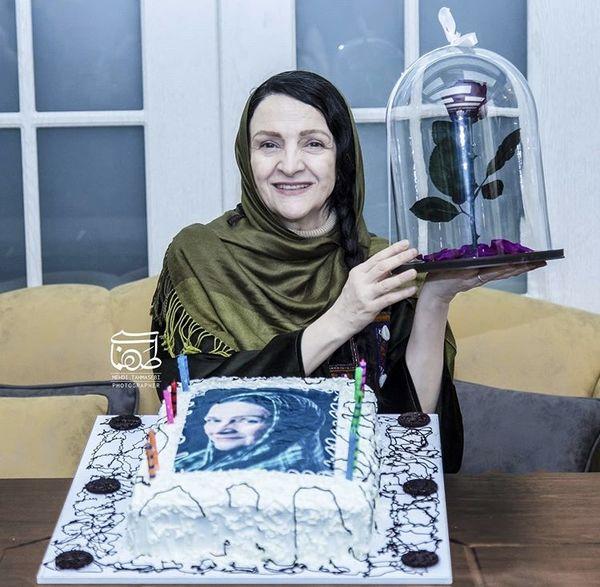 کیک تولد گلاب آدینه + عکس