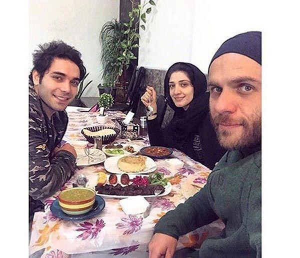 رستوران گردی بابک حمیدیان و همسرش+عکس