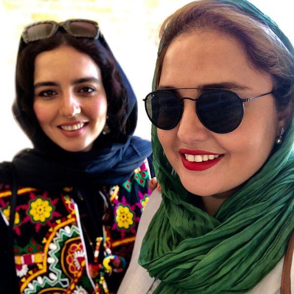 مسافرت نرگس محمدی و خواهرش به اصفهان+عکس