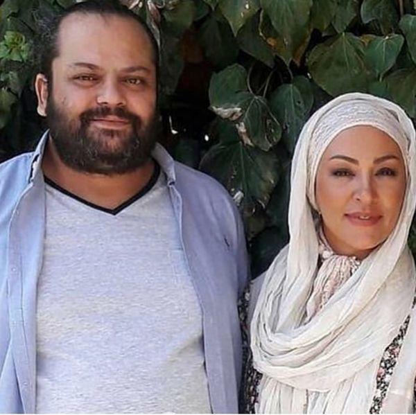 خانم بازیگر در کنار همسر مرحومش + عکس