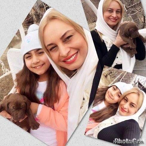 عکس زمستانی از مریم کاویانی و عزیزش