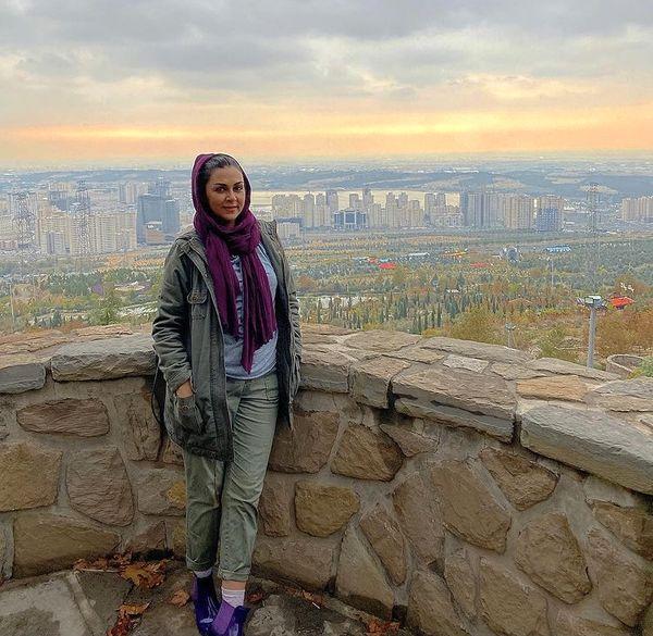 شیوا ابراهیمی در ارتفاعات تهران + عکس