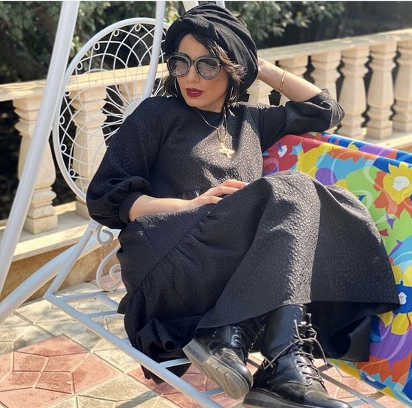 سمیرا حسن پور در یک روز آفتابی پاییزی + عکس