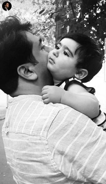 محمد معتمدی و پسر کوچکش + عکس