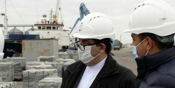 سفیر ایران از بندر هوسان در باکو بازدید کرد