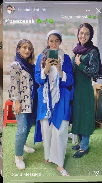 عکس سه نفره لیلا بلوکات