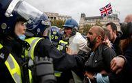 اعتراض مردم در لندن علیه محدودیتهای کرونایی
