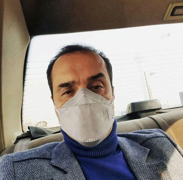مجری مشهور تلوزیون در یک تاکسی + عکس