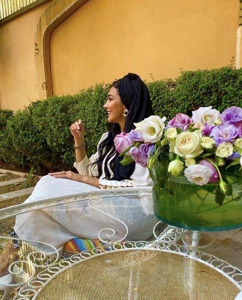 مریم معصومی در حیاط خانه ویلایی اش + عکس