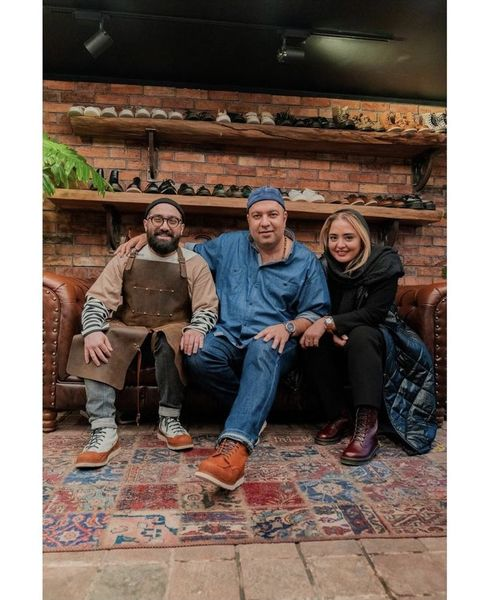 علی اوجی و نرگس محمدی در کارگاه دوستشان + عکس