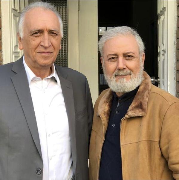 جلیل فرجاد در کنار کارآگاه علوی مشهور + عکس