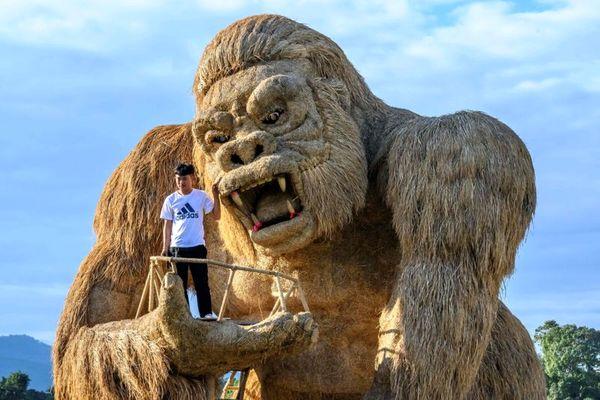 مجسمه ساخته شده از کاه برنج+ عکس