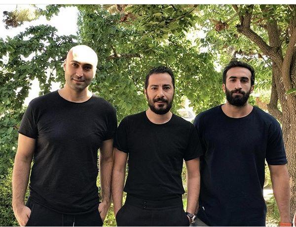 ست مشکی نوید محمدزاده با دوستانش + عکس