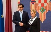 رایزنی امیر قطر با رئیس جمهور کرواسی در زاگرب