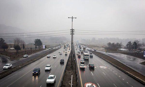 بارش باران ومهگرفتگی درجادههای شمال