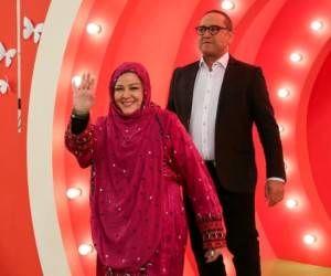 مسابقه خانم های بازیگر در خندوانه + تصاویر