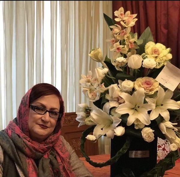 سبد گل زیبای مریم امیرجلالی + عکس