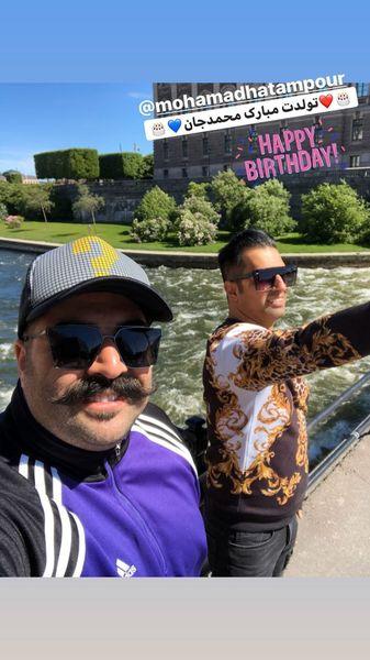 تبریک بهنام بانی به مناسبت تولد دوستش + عکس