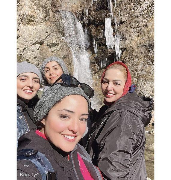 ستایش خانم چه کوهنوردی میکنه + عکس
