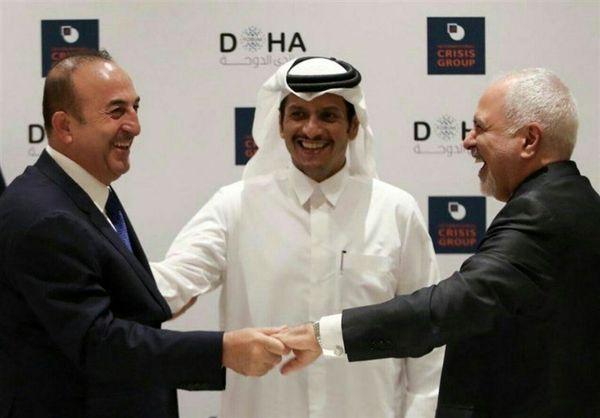 دیدار صمیمانه وزرای خارجه ایران، ترکیه و قطر