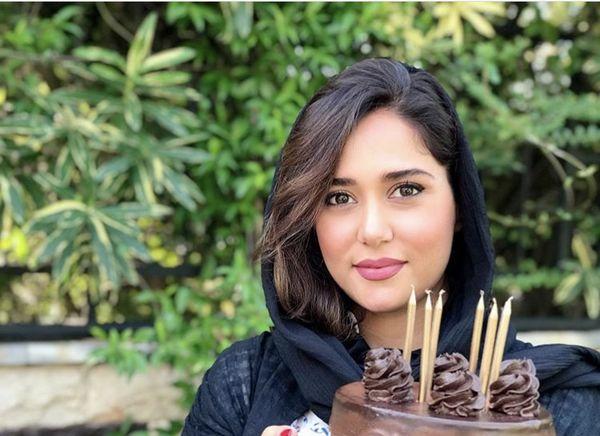 کیک تولد ساده پریناز ایزدیار + عکس