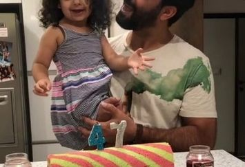 منوچهر هادی و دختر خوشگلش در خانه+عکس