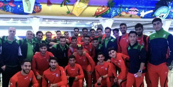 تیم فوتبال امید ایران وارد اردن شد