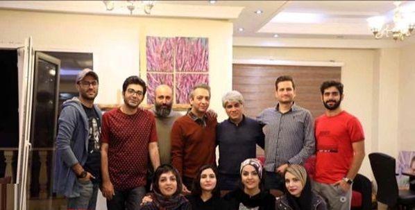 فرزاد حسنی در جمع دوستان هنرمندش+عکس