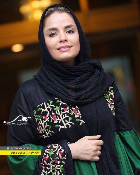 """عکس بازیگر زن سریال """"بوی باران"""" با مانتو سبز"""