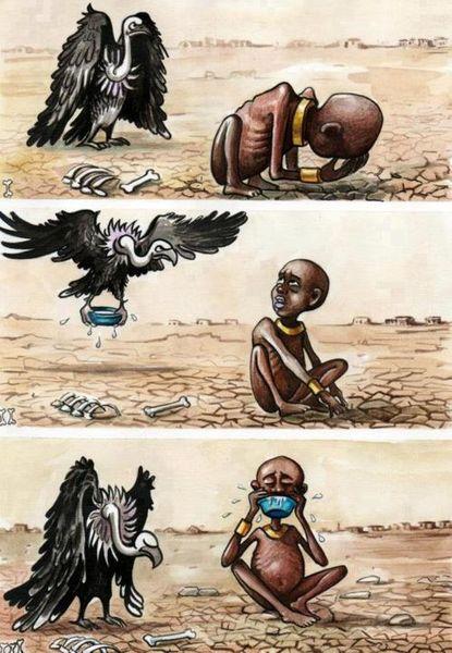 کاریکاتور تلخ ترین عکس تاریخ