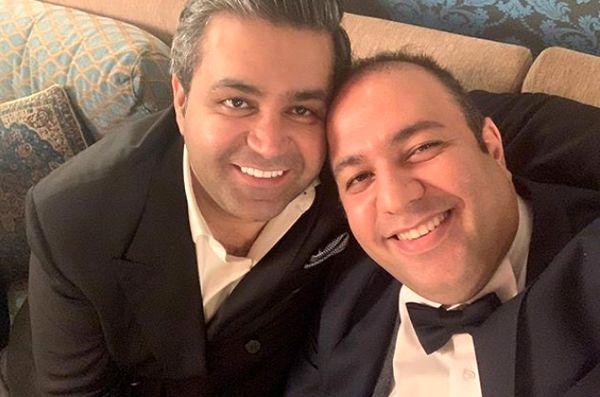 همسر و برادرشوهر نرگس محمدی در یک قاب+عکس