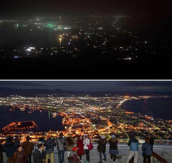 مقایسه ژاپن پیش و پس از وقوع زلزله