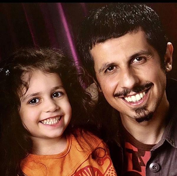 جواد رضویان و دخترش در کودکی + عکس