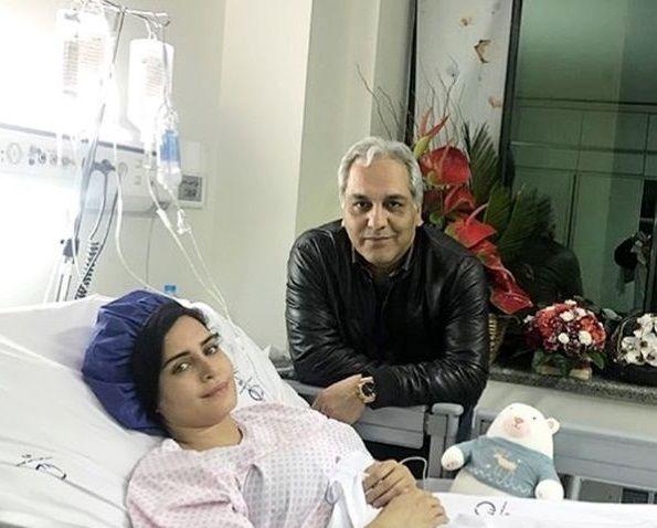 عیادت مهران مدیری از خانم بازیگر+عکس