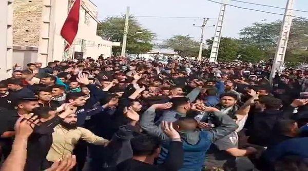 تشییع جنازه عجیب در خرمشهر در روزهای کرونایی+فیلم