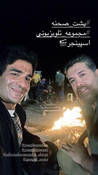 شب کاری های یوسف تیموری در بیابان + عکس