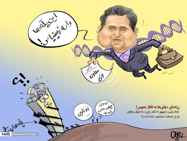 انتصاب شاه داماد/ کاریکاتور