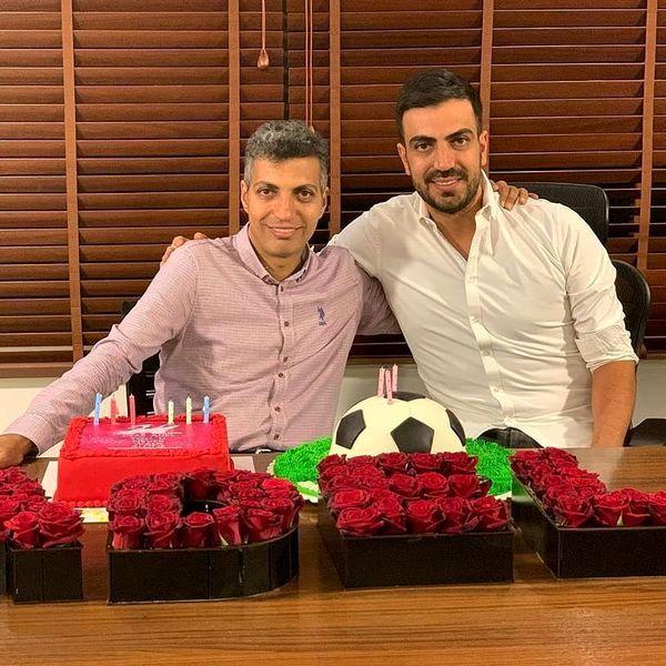عادل فردوسی پور در کنار برادرش + عکس