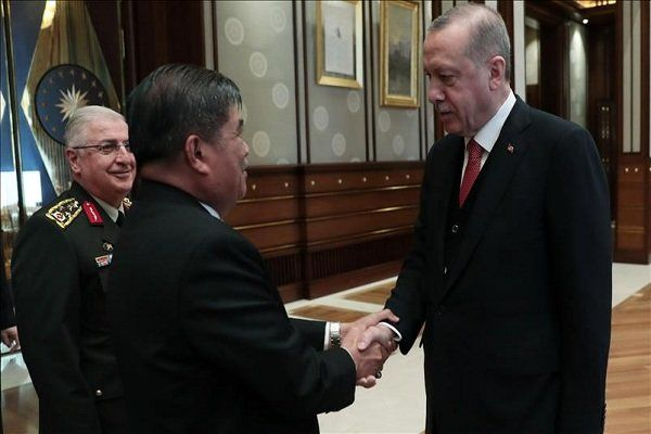اردوغان با وزیر دفاع مالزی دیدار کرد