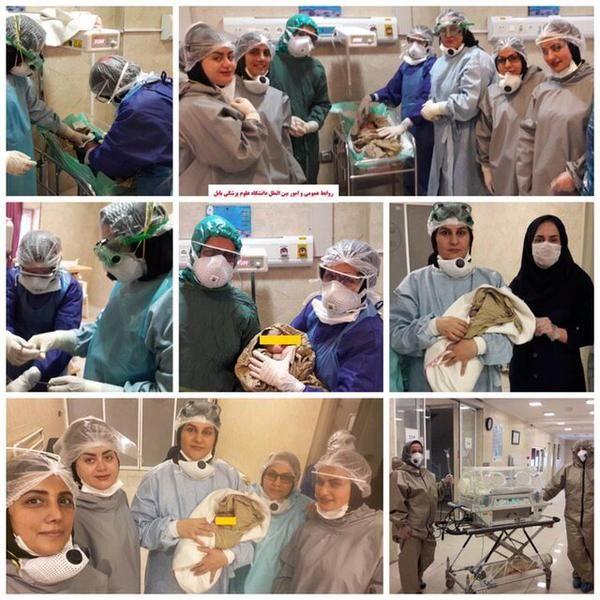 تولد نوزادی دیگر از مادر کرونایی در بابل+عکس
