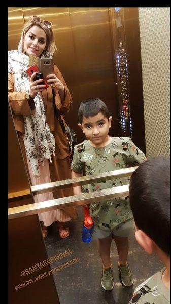 سپیده خداوردی و پسرش + عکس